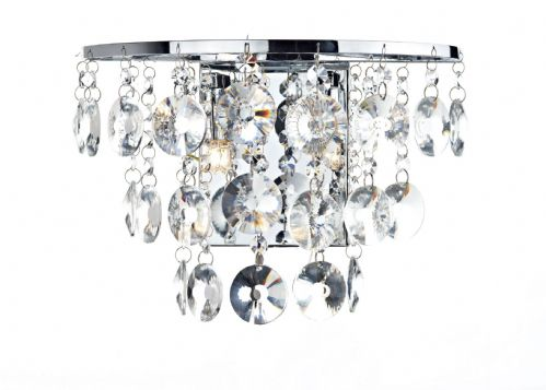 Jester 2-light Polished Chrome Wall Light (Class 2 Double Insulated) BXJES0950-17